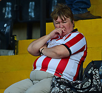 Lincoln City fans enjoy the pre-match atmosphere<br /> <br /> Photographer Andrew Vaughan/CameraSport<br /> <br /> The EFL Sky Bet League Two - Lincoln City v Swindon Town - Saturday August 11th 2018 - Sincil Bank - Lincoln<br /> <br /> World Copyright &copy; 2018 CameraSport. All rights reserved. 43 Linden Ave. Countesthorpe. Leicester. England. LE8 5PG - Tel: +44 (0) 116 277 4147 - admin@camerasport.com - www.camerasport.com