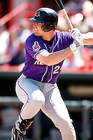 May 31, 2009:  First Baseman Beau Mills of the Akron Aeros at bat during a game at Jerry Uht Park in Erie, NY.  The Aeros are the Eastern League Double-A affiliate of the Cleveland Indians.  Photo by:  Mike Janes/Four Seam Images