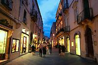 Corso Umberto; Taormina,  Sicily, Italy