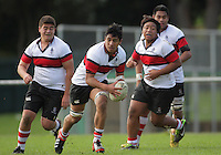 Action from the Hurricanes 1st XV Secondary Schools rugby match between Scots College (pictured) and Hastings Boys' High School at Porirua Park, Porirua, Wellington, New Zealand on Friday, 17 May 2013. Photo: Dave Lintott / lintottphoto.co.nz