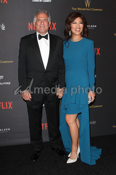 10 January 2016 - Los Angeles, California -  Les Moonves and Julie Chen. 2016 Weinstein Company & Netflix Golden Gloves After Party held at the Beverly Hilton Hotel. Photo Credit: AdMedia