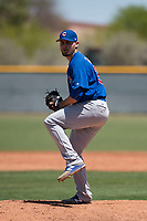 Chicago Cubs relief pitcher Ryan McNeil (35) prepares to deliver a pitch during an Extended Spring Training game against the Los Angeles Angels at Sloan Park on April 14, 2018 in Mesa, Arizona. (Zachary Lucy/Four Seam Images)