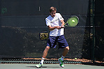 23 April 2015: Quentin Monaghan. The Notre Dame University Fighting Irish played the Georgia Tech University Ramblin' Wreck at the Cary Tennis Park in Cary, North Carolina in a 2015 NCAA Division I Men's Tennis and Atlantic Coast Conference Tournament First Round match. Georgia Tech won the match 4-0.
