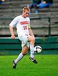 12 September 2010: Cornell University Big Red defender Ben Kenyon, a Sophomore from Lockport, NY, in action against the University of Vermont Catamounts at Centennial Field in Burlington, Vermont. The Catamounts edged out the Big Red 2-1. Mandatory Credit: Ed Wolfstein Photo