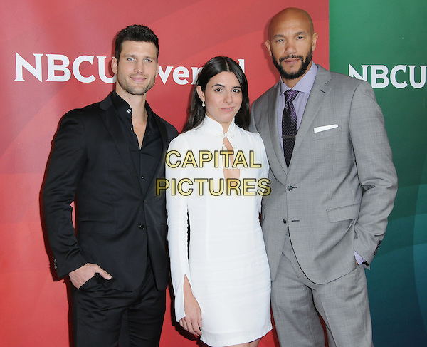 17 January 2017 - Pasadena, California - Parker Young, Marianne Rendon, Stephen Bishop. 2017 NBCUniversal Winter Press Tour held at the Langham Huntington Hotel. <br /> CAP/ADM/BT<br /> &copy;BT/ADM/Capital Pictures