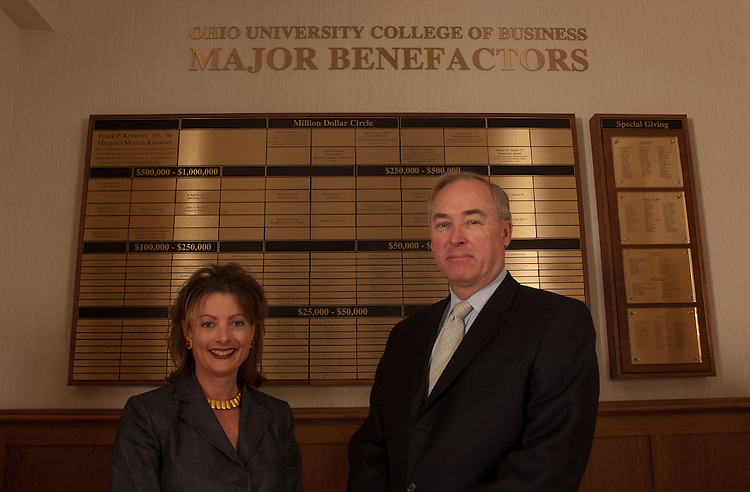 16959College of Buisness- Dean Glen Corlett and Mary Strother