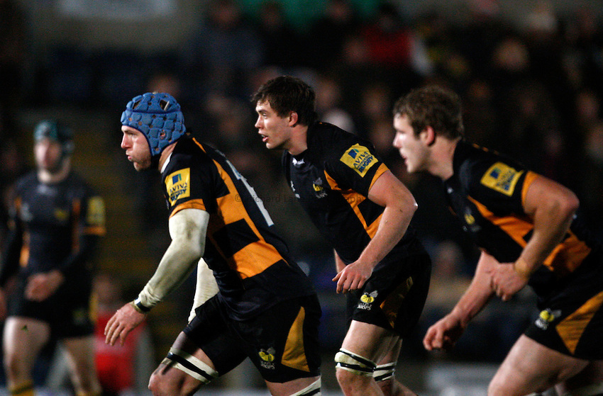 Photo: Richard Lane/Richard Lane Photography. London Wasps v Aviron Bayonne. Amlin Challenge Cup. 13/12/2012. Wasps' James Haskell.