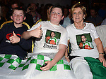 Adam, Tony and Marie O'Neill cheering on the Feckins at the White Collar Boxing in City North Hotel. Photo:Colin Bell/pressphotos.ie