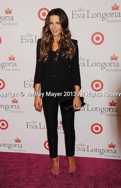 HOLLYWOOD, CA- SEPTEMBER 28: Actress Kate Beckinsale arrives at the Eva Longoria Foundation Dinner at Beso restaurant on September 28, 2013 in Hollywood, California.