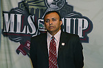 17 November 2007: Matt Mathai, founder of the Screaming Eagles. The Screaming Eagles, a DC United fan group, hosted the 2007 Supporters Summit, held at Babylon Futbol Club in Falls Church, Virginia one day before MLS Cup 2007, Major League Soccer's championship game.