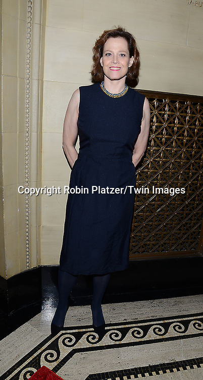 Sigourney Weaver attends the Library of American Broadcasting Annual Giants of Broadcasting Luncheon on October 16, 2014 at Gotham Hall in New York City. <br /> <br /> photo by Robin Platzer/Twin Images<br />  <br /> phone number 212-935-0770