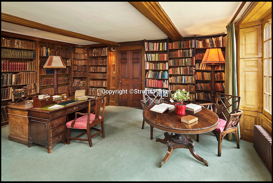 BNPS.co.uk (01202 558833)<br /> Pic: Strutt&Parker/BNPS<br /> <br /> The library.<br /> <br /> A historic country estate which was once the subject of a 150 year mystery of sunken treasure has gone on the market for the first time in 250 years.<br /> <br /> Spains Hall in Essex was burgled in the 18th century but the raiders' getaway cart got stuck in a bog and they threw their loot of silver in a lake on the estate.<br /> <br /> It wasn't until 1902 the lake was drained and the treasure was found. <br /> <br /> The estate in now on the market for £6m.