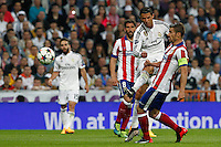 Real Madrid´s Portuguese forward Cristiano Ronaldo and Atletico Madrid´s Spanish Gabi
