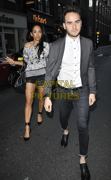 LONDON, ENGLAND - JUNE 10: Jade Ewen &amp; guest attend the Beefeater Grill 40th anniversary party, The Drury Club, Drury lane, on Tuesday June 10, 2014 in London, England, UK.<br /> CAP/CAN<br /> &copy;Can Nguyen/Capital Pictures