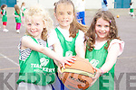 Grace Reidy, Shonagh and Orla O'Connor at the Team Kerry Basketball Camp on Tuesday.