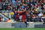 09.01.2016 Camp Nou, Barcelona, Spain. La Liga day 19 march between FC Barcelona and Granada. Luis Suarez control the ball