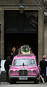 Pic shows: Coffin leaves with Emily Lloyd<br /> <br /> Funeral of Roger Lloyd-Pack - &quot;Trigger&quot; from Only Fools and Horses.<br /> <br /> Mourners arriving at the service at Actors Church in Covent Garden -<br /> <br /> <br /> <br /> <br /> Pic by Gavin Rodgers/Pixel 8000 Ltd