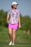 Juli Inkster (USA) watches her putt on 7 during round 1 of  the Volunteers of America LPGA Texas Classic, at the Old American Golf Club in The Colony, Texas, USA. 5/5/2018.<br /> Picture: Golffile | Ken Murray<br /> <br /> <br /> All photo usage must carry mandatory copyright credit (&copy; Golffile | Ken Murray)