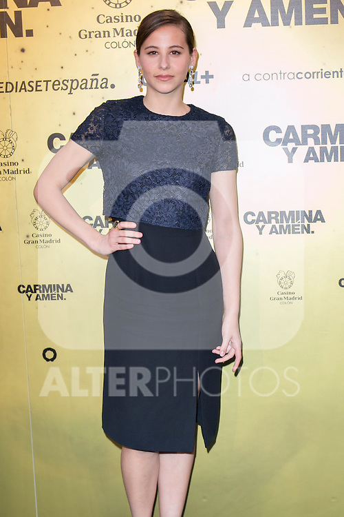 "Spanish actress Irene Escolar attend the Premiere of the movie ""Carmina y Amen"" at the Callao Cinema in Madrid, Spain. April 28, 2014. (ALTERPHOTOS/Carlos Dafonte)"
