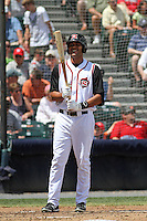Richmond Flying Squirrels infielder Chris Dominguez #17 at bat during a game against the Trenton Thunder at The Diamond on May 27, 2012 in Richmond, Virginia. Richmond defeated Trenton by the score of 5-2. (Robert Gurganus/Four Seam Images)