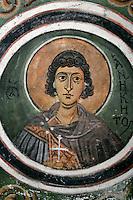 Aniketos ,cross-vault paintings,crypt,AD 955,Osios Loukas Monastery,Greece