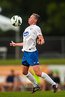 Boston Breakers midfielder Joanna Lohman (11). Sky Blue FC and the Boston Breakers played to a 0-0 tie during a National Women's Soccer League (NWSL) match at Yurcak Field in Piscataway, NJ, on July 13, 2013.