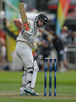 Kane Williamson in action during day one of the 2nd cricket test match between the New Zealand Black Caps and Sri Lanka at the Hawkins Basin Reserve, Wellington, New Zealand on Saturday, 3 February 2015. Photo: Dave Lintott / lintottphoto.co.nz