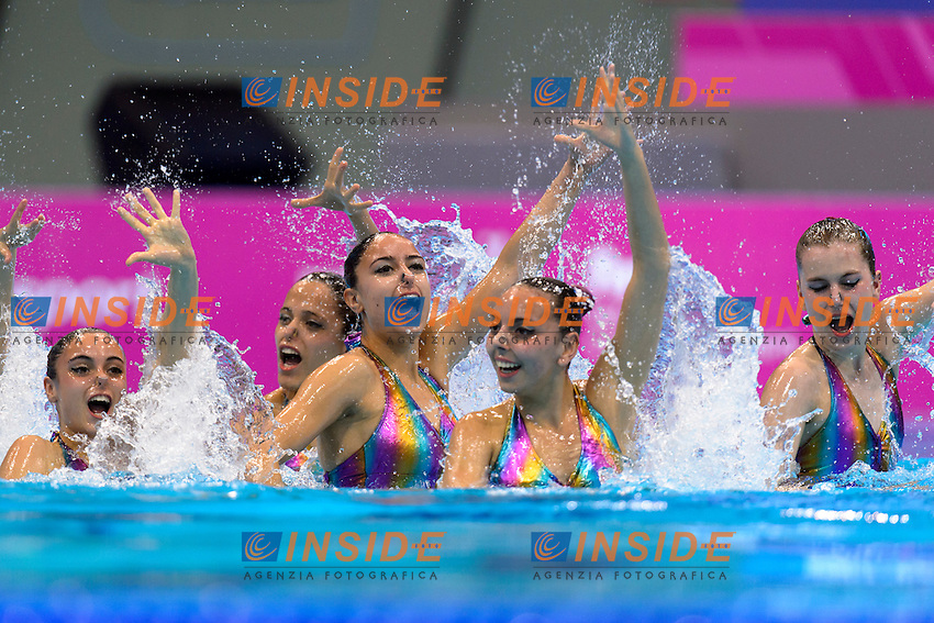 Team PORTUGAL POR <br /> COSTA Barbara, GOMES Diana , BAPTISTA Ana Isabel, <br /> MARTINS Maria Do Carmo, FARIA Filipa, VIEIRA Cheila, <br /> GONCALVES Maria Beatriz, GONCALVES Maria M.<br /> Team Technical Final <br /> London, Queen Elizabeth II Olympic Park Pool <br /> LEN 2016 European Aquatics Elite Championships <br /> Synchronized Swimming <br /> Day 01 09-05-2016<br /> Photo Andrea Staccioli/Deepbluemedia/Insidefoto