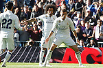 Real Madrid's Marcelo Vieira (l) and Cristiano Ronaldo celebrate goal during La Liga match. January 7,2016. (ALTERPHOTOS/Acero)