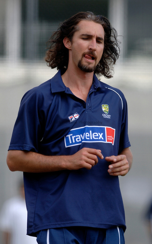 Photo: Glyn Thomas..Australia training. nPower Test Match Series, The Ashes 2nd Test..03/08/2005..Australia's Jason Gillespie tries to find some form in the nets.
