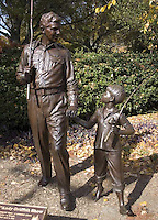 Andy Griffith Statue in a park in Raleigh, North Carolina.