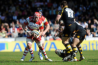 Luke Narraway of Gloucester Rugby in action during the Aviva Premiership match between London Wasps and Gloucester Rugby at Adams Park on Sunday 1st April 2012 (Photo by Rob Munro)