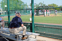 Legendary scout and Atlanta Braves executive Paul Snyder, now retired, watches a Minor League Spring Training intrasquad game on Wednesday, March 18, 2015, at the ESPN Wide World of Sports Complex in Lake Buena Vista, Florida. (Tom Priddy/Four Seam Images)