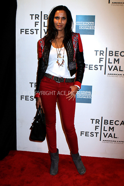 WWW.ACEPIXS.COM......April 20, 2013, New York City, NY.....Padma Lakshmi arriving at the screening of 'Sunlight Jr.' at the 2013 Tribeca Film Festival at BMCC Tribeca PAC on April 20, 2013 in New York City. ..........By Line: Nancy Rivera/ACE Pictures....ACE Pictures, Inc..Tel: 646 769 0430..Email: info@acepixs.com