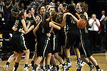 03/12/11-- Jesuit celebates after defeating Clackamas 42-39 in the 6A girls state basketball  championship at the Rose Garden in Portland, Or....Photo by Jaime Valdez......................................