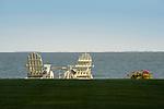 Middle Beach Road. Madison, CT. Adirondack chairs.