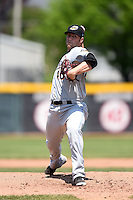 Akron RubberDucks pitcher Cody Anderson (40) delivers a warmup pitch during a game against the Erie SeaWolves on May 18, 2014 at Jerry Uht Park in Erie, Pennsylvania.  Akron defeated Erie 2-1.  (Mike Janes/Four Seam Images)