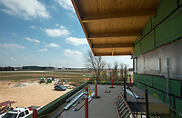 NWA Democrat-Gazette/BEN GOFF @NWABENGOFF<br /> A view from the second floor outside deck area at the new flight center under construction Friday, March, 23, 2018, at Bentonville Municipal Airport.