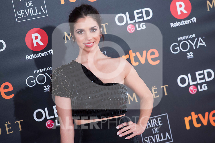 Elena Furiase attends red carpet of Goya Cinema Awards 2018 at Madrid Marriott Auditorium in Madrid , Spain. February 03, 2018. (ALTERPHOTOS/Borja B.Hojas)