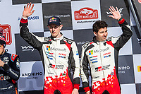 26th January 2020, Monaco, Monte Carlo; Elfyn EVANS at the 2020 Monte Carlo Rally on the podium