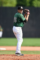 Clinton LumberKings pitcher Paul Fry (26) gets ready to deliver a pitch during a game against the Beloit Snappers on August 17, 2014 at Ashford University Field in Clinton, Iowa.  Clinton defeated Beloit 4-3.  (Mike Janes/Four Seam Images)
