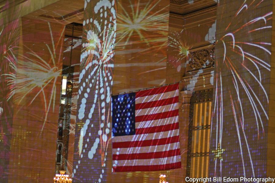 Grand Central Station Laser Light Show on Christmas Eve.