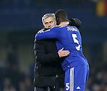 Chelsea's Jose Mourinho celebrates with Kurt Zouma at the final whistle<br /> <br /> Barclays Premier League- Chelsea vs Everton  - Stamford Bridge - England - 11th February 2015 - Picture David Klein/Sportimage