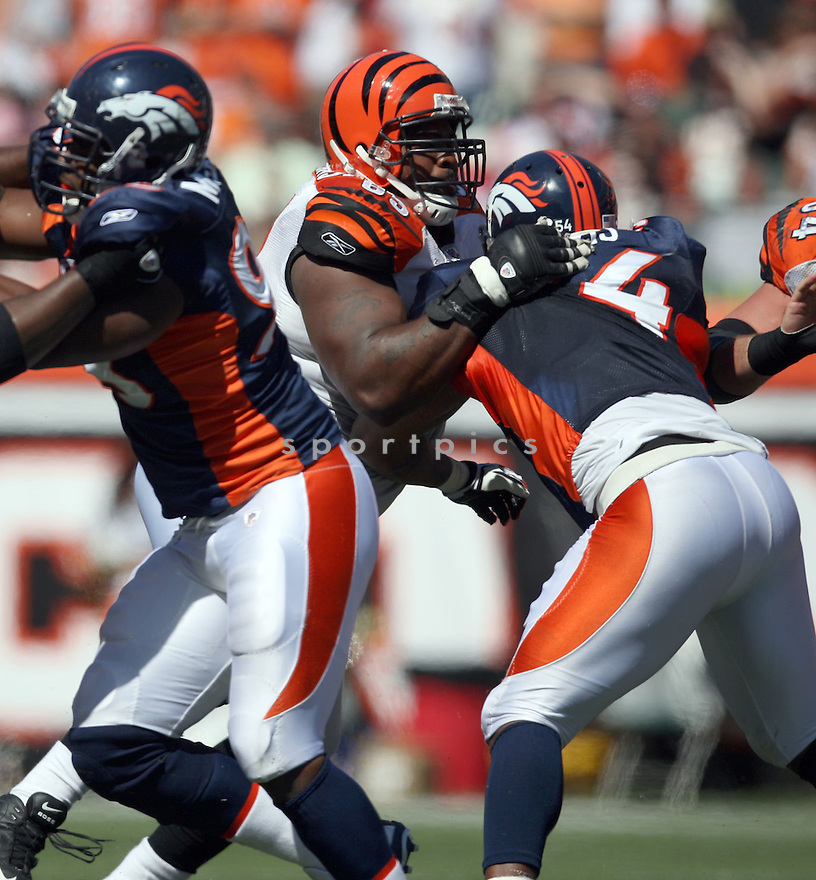 BOBBIE WILLIAMS,of the Cincinnati Bengals, in actions during the Bengals  game against the Denver Broncos  on September 13, 2009 in Cincinnati, OH  The Broncos beat the Bengals 12-7.