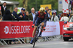 Borut Bozic (SLO) Bahrain-Merida in action during Stage 1, a 14km individual time trial around Dusseldorf, of the 104th edition of the Tour de France 2017, Dusseldorf, Germany. 1st July 2017.<br /> Picture: Eoin Clarke | Cyclefile<br /> <br /> <br /> All photos usage must carry mandatory copyright credit (&copy; Cyclefile | Eoin Clarke)
