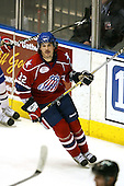 March 15, 2009:  Defenseman Franklin MacDonald (32) of the Rochester Amerks, AHL affiliate of Florida Panthers, during the third period of a regular season game at the Blue Cross Arena in Rochester, NY.  Hamilton defeated Rochester 4-3 in a shoot out.  Photo Copyright Mike Janes Photography 2009