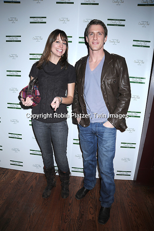 "actors Alexie Gilmore and Patrick Heusinger.. arriving at The New York Novie Premiere party for ""Were The World Mine"" on November 21, 2008 at Country Club.....Robin Platzer, Twin Images"