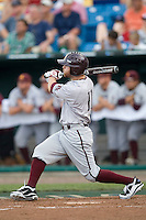 Arizona State's Matt Newman in Game 7 of the NCAA Division One Men's College World Series on Monday June 22nd, 2010 at Johnny Rosenblatt Stadium in Omaha, Nebraska.  (Photo by Andrew Woolley / Four Seam Images)