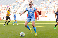 Bridgeview, IL, USA - Sunday, May 29, 2016: Chicago Red Stars midfielder Amanda Da Costa (13) during a regular season National Women's Soccer League match between the Chicago Red Stars and Sky Blue FC at Toyota Park. The game ended in a 1-1 tie.