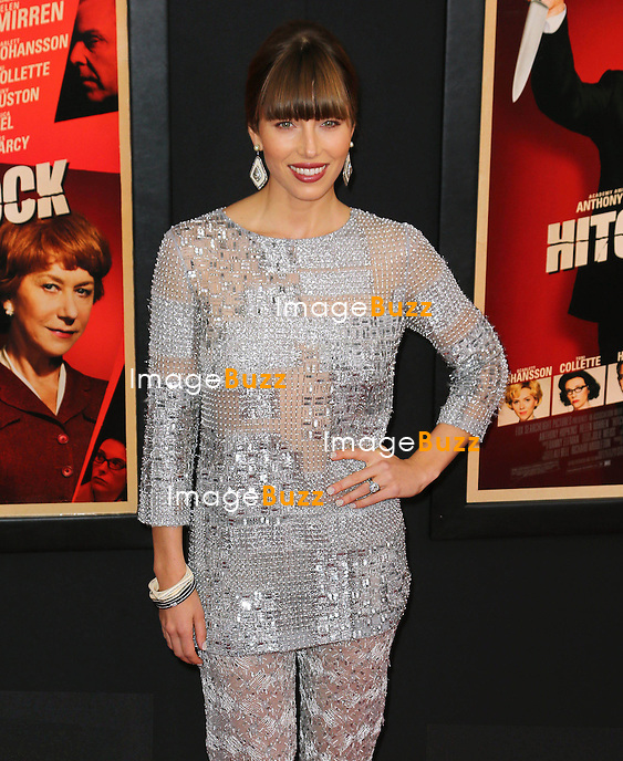 "Jessica Biel at the premiere of ""Hitchcock"" in New York City..New York, November 18, 2012.."